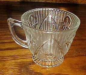 Jeanette crystal iris and Herringbone cup