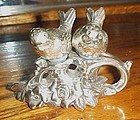 Vintage metal birds on a branch silver plated salt and pepper shakers