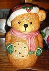 Dalton cookie jar Santa bear holding big cookie