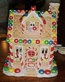 M&M lighted Christmas cottage by Kurt Adler
