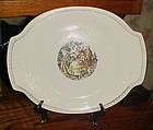 Vintage 40's Oval serving platter Salem China SLM97 pattern rare 14""