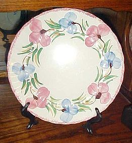 "Blue Ridge Southern Potteries Sweet pea 10 1/2"" dinner plate"
