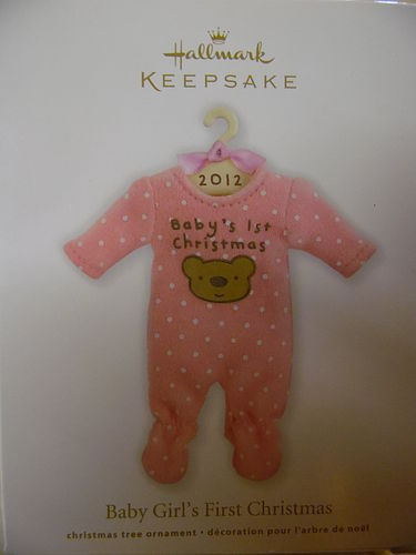 Hallmark Keepsake 2012 Baby girls First Christmas ornament