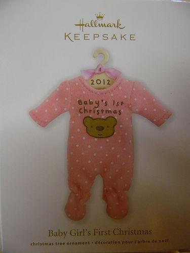 Hallmark Keepsake 2012 Baby girls First Christmas ornament