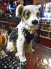 Vintage Mexico chalk / plaster Australian shepherd puppy dog bank
