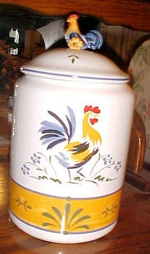 Avon The Provencal Collection Rooster canister 11""