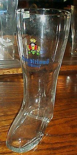 Giessener BiereTraditions Pilsner 1 litre glass boot beer glass