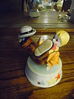 Schmid musical rotating clown figurine