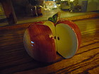 Red Apple halves salt and pepper shakers by CIC Susan Winget