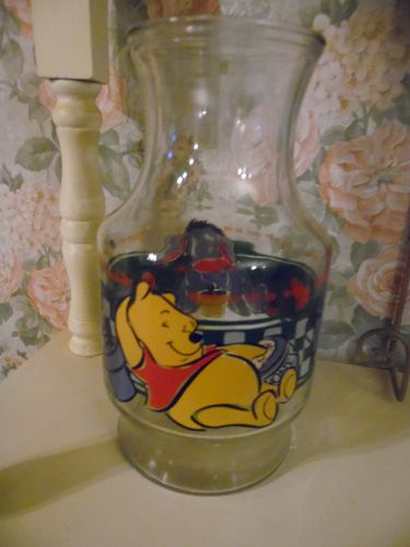 Anchor Hocking Disney Pooh and Eyore glass carafe