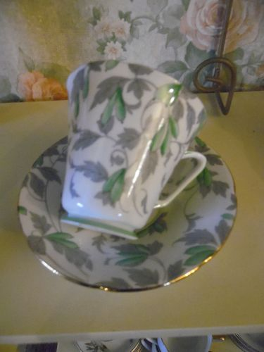 Royal Grafton Ashley green teacup and saucer