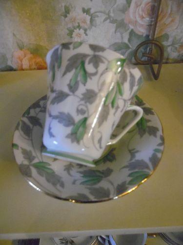 Royal Grafton Ashley green teacup and saucer