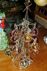 Hand blown Christmas tree with ornaments just like Soffiera Parise