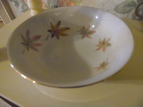 "Royal Ming China coup cereal bowl 5 3/4"" leaves pattern"