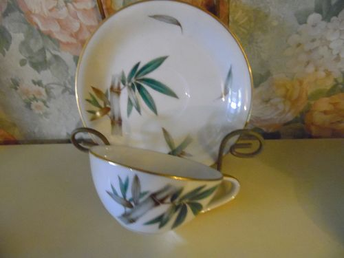 Noritake Canton #5027 Bamboo cup and saucer