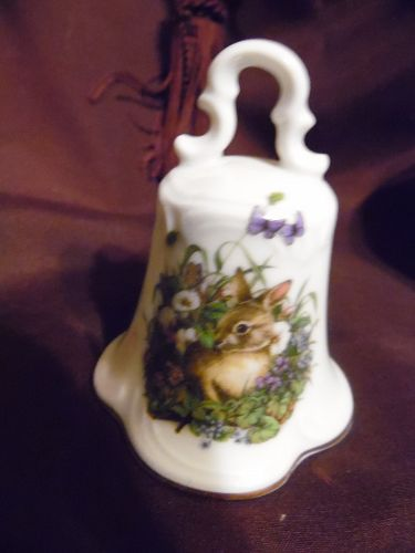 Vintage porcelain bell, Eminence Ludwig  Germany Garden Bunny