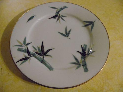 "Noritake pattern # 5490 bamboo 7.5"" salad plate"