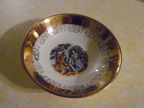 "Sabin Crest O Gold 5.5"" fruit dessert bowl"