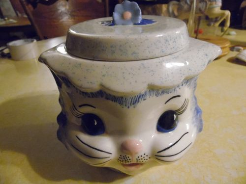 Vintage kitty cat head cookie jar, Miss Priss mold