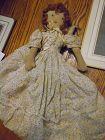 Vintage Black White topsy Turvy rag doll 1920's