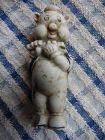Old vintage Walt Disney bisque pig with flute figurine 1930's