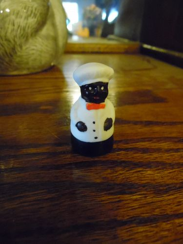 Black Chef porcelain thimble