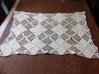 Vintage rectangular hand crochet doily