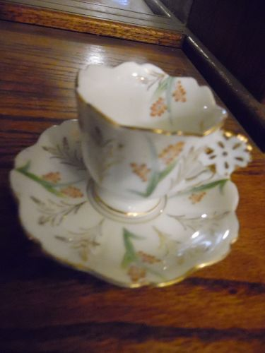 Hand painted Occupied Japan Ucagco demitasee cup & saucer set