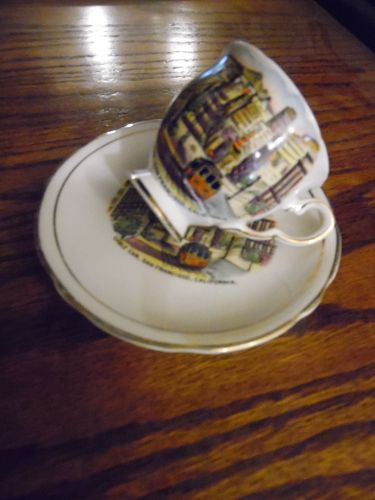 Royal Stafford  demitasse San Francisco souvenir cup & saucer