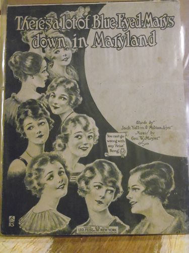 There's a lot of blue-eyed Marysdown in Maryland vintage sheet music