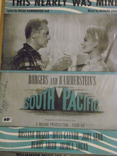 This Nearly Was Mine sheet music from South Pacific