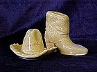 Cowboy boot & hat salt & pepper shakers
