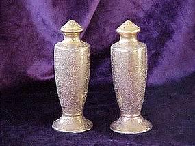 Tall filigree porcelin shakers