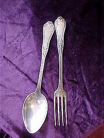 Antique silver plate spoons & forks TINOR