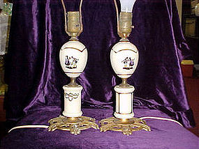 Pair of silouette style boudoir lamps