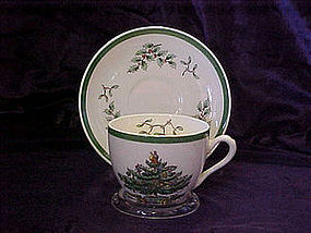 Spode Christmas tree cup & saucer set