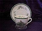 Spode Christmas tree cup & saucer set