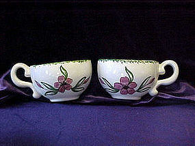 Pair of cups wall pockets