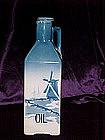 Delft blue oil decanter Czechoslovakia circa 1900