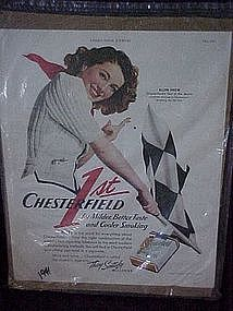 Original Chesterfield cigarette advertisements