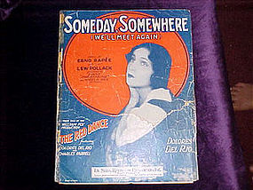 sheet music, Someday Somewhere