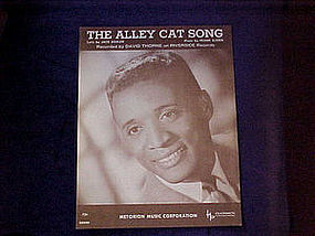 Sheet music, The Alley Cat Song