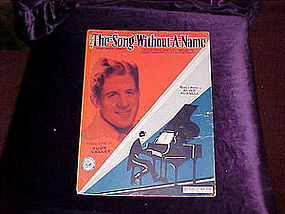 Sheet music, The song without a name