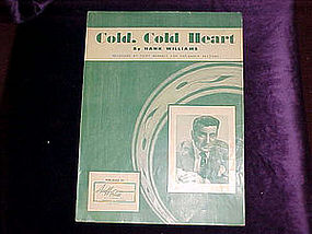 Sheet music, Cold cold heart
