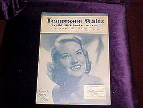 sheet music, Tennessee Waltz