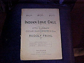 Sheet music, Indian love call