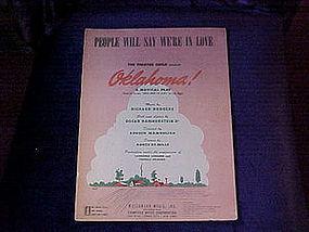 sheet music, OKLAHOMA