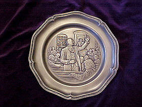 American revolution Pewter Collector plate