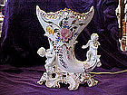 Hand painted italy lamp with cherubs