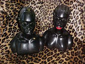 African chalk busts